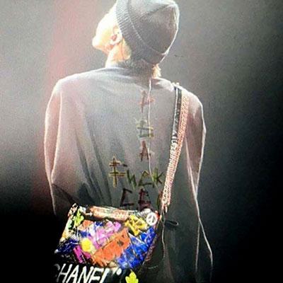 [UNISEX] 暖かい裏起毛 BIGBANG/GD/G-DRAGON/カラフル後ろロゴスウェットシャツ(3color)