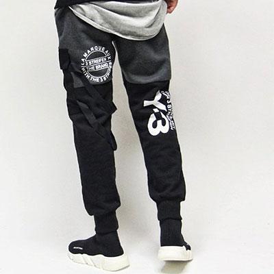 [UNISEX] ポケットストラップポイントジョガーパンツ
