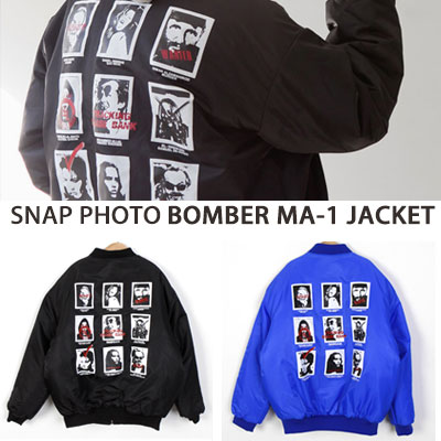 [UNISEX] スナップフォトボンバーma-1ジャケット(2color)