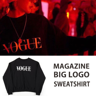 [UNISEX] BIGBANG/GD/G-DRAGON STYLE マガジンビッグロゴスウェットシャツ black ver.