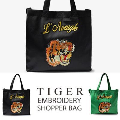 [UNISEX] タイガー刺繍ショッパーバッグ(2color)