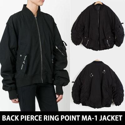[3オンス中綿入り] 後ろピアスリングポイントMA-1ボンバージャケット