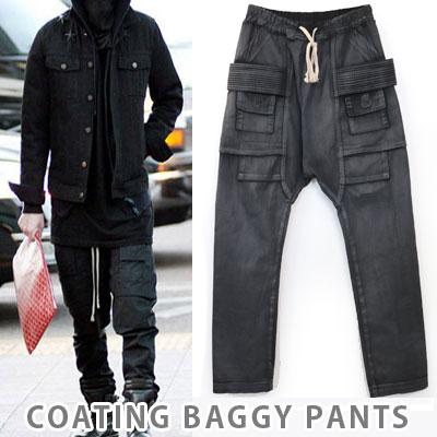 ★再入荷完了★BIGBANGのG-DRAGON, ルームメイトで2ne1ボム着用,SOLファッション|RICK OW*NS st. コーティングバギーパンツ(男女兼用)