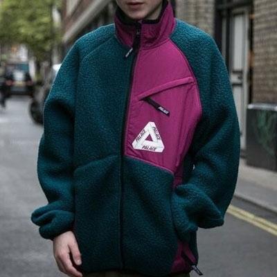 [UNISEX] トライアングルロゴフリースジップアップジャケット(2color)