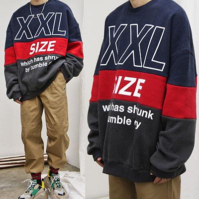 [UNISEX] オ・バフェットXXLサイズのロゴスウェットシャツ