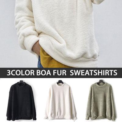 [UNISEX] ボアファースウェットシャツ(3color)
