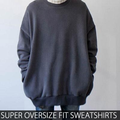 [UNISEX] スーパーオーバーサイズフィットウォッシングカラースウェットシャツ(3color)