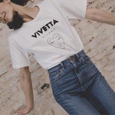 【FEMININE : BLACK LABEL】ハートフェイスプリントショートスリーブTシャツ white ver.