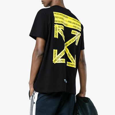 [UNISEX] イエローロゴテープポイントショートスリーブtシャツ/半袖(2color2size)