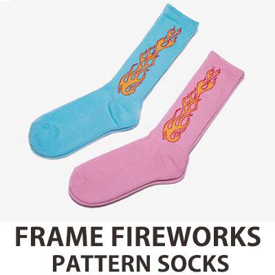 [UNISEX] ファイアパターンソックス/靴下 (2color)