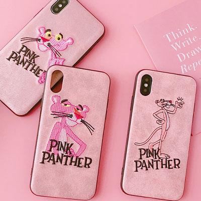 ピンクパンサー刺繍スマホケース/スマホカバー(3type)