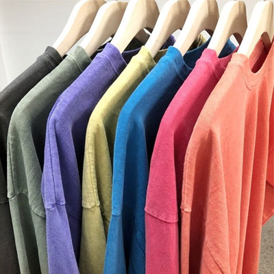 [UNISEX] ピグメントウォッシュカラーロングスリーブtシャツ(7color)