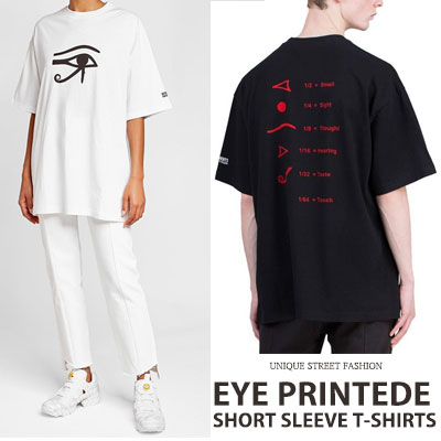 [UNISEX] アイズプリントショートスリーブTシャツ/半袖(2color)