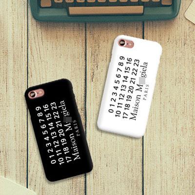 ナンバリングプリントシークムードハードスマホケース,スマホカバー(iPhone,Galaxy/2color)
