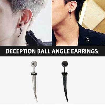 BIGBANG,GOT7 | 韓国アイドル着用!人気デザインアイテム☆☆サージカルスチール素材Deceptionボール角ピアス(1ea)