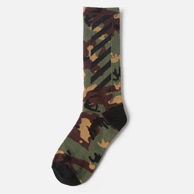 [UNISEX] ダイアゴナルポイントカモパターンソックス/靴下