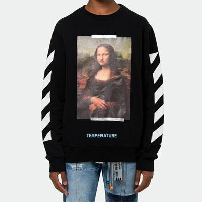 [UNISEX] DAVINCH ペイントプリントスウェットシャツ(2color)