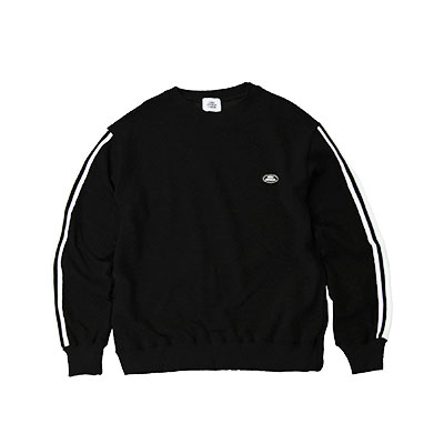 【2XADRENALINE】テーピングスリーブスウェットシャツ  -  BLACK