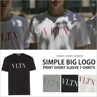 [UNISEX] シンプルビッグロゴプリントショートスリーブTシャツ/半袖(3color)