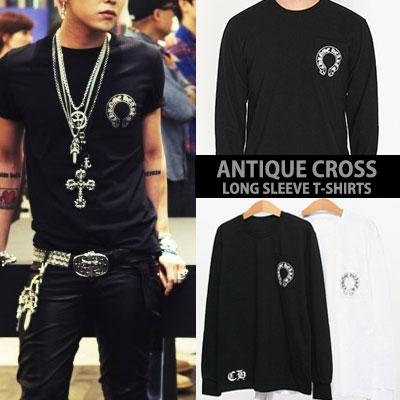 [UNISEX] BIGBANG GD/g-dragon st. アンティーククロスロングスリーブTシャツ(2color)