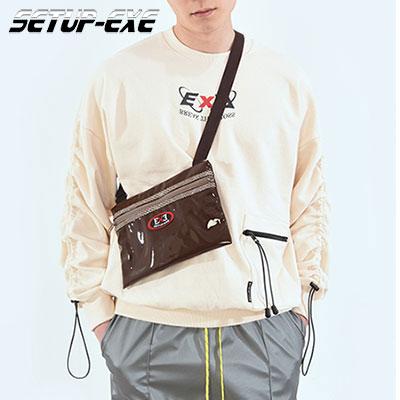 【SETUP-EXE】コードロックシャーリングスウェットシャツ - BEIGE