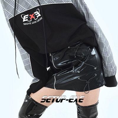 【SETUP-EXE】サイドポケットスカート  -  BLACK