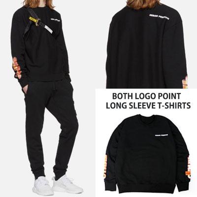 [UNISEX] BOTH ロゴポイントロングスリーブTシャツ