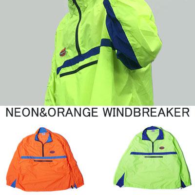 [UNISEX] ネオンオレンジカラーウインドブレーカー(2color)