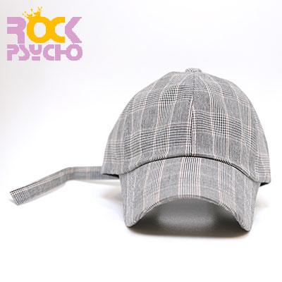 【ROCK PSYCHO】グレンチェックボールキャップ