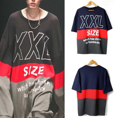 [UNISEX] XXLオーバーサイズショートスリーブTシャツ/半袖