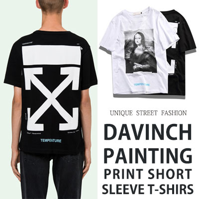 [UNISEX] ダヴィンチプリントショートスリーブtシャツ/半袖(2color)