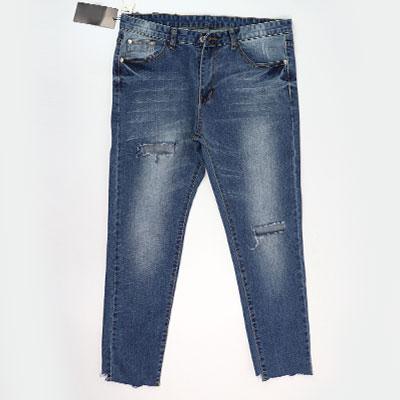 bigbang/gd/gdragon/スクエア刺繍アンバランスカットジーンズ(3size)