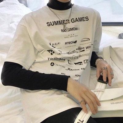 [UNISEX] サマーゲームショートスリーブtシャツ/半袖(3color)