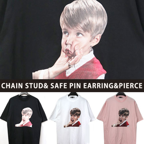 [UNISEX] フェイスプリントショートスリーブtシャツ/半袖(3color)