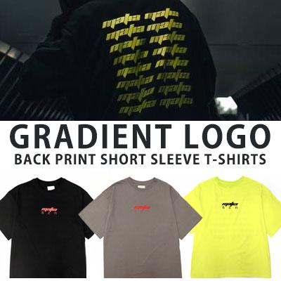 [UNISEX] グラデーションロゴプリントショートスリーブtシャツ/半袖(3color)