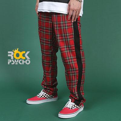 【ROCK PSYCHO】タータンチェックパンツ - RED
