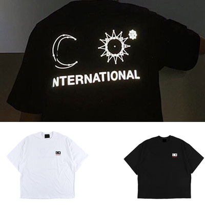 [UNISEX] ムーン/スターショートスリーブtシャツ/半袖(2color)