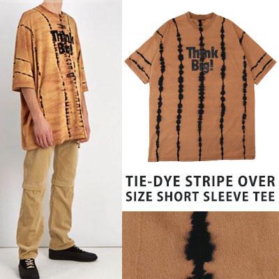 [UNISEX] ストライプオーバーサイズショートスリーブTシャツ/半袖
