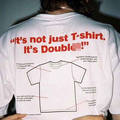 [UNISEX] イラストオーバーサイズショートスリーブtシャツ/半袖(2color)