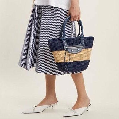 [S-SIZE]ラタンライントートバッグ(2color)