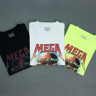 [UNISEX] メガバーガープリントショートスリーブtシャツ/半袖(3color)
