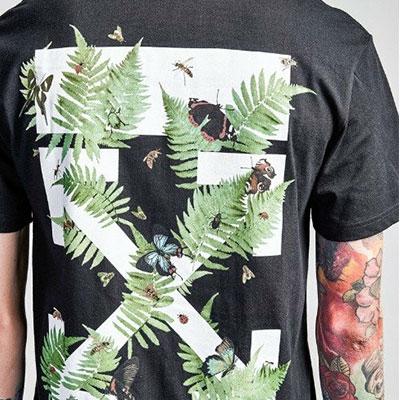 [UNISEX] ヤシの木プリントショートスリーブtシャツ/半袖(2color)