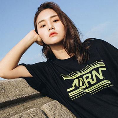 【2XADRENALINE】ADRNラインロゴ半袖Tシャツ -BLACK