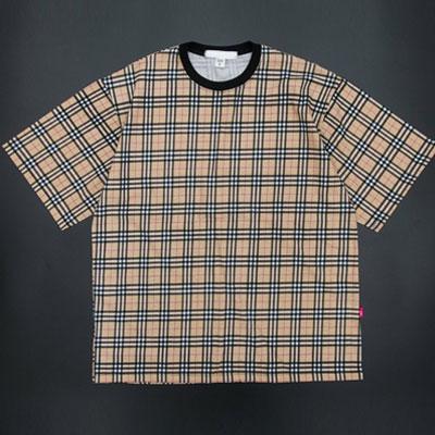 [UNISEX] クラシックチェックショートスリーブTシャツ/半袖(2color)
