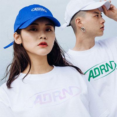 【2XADRENALINE】[女性用]ADRNラウンドロゴ半袖Tシャツ-WHITE