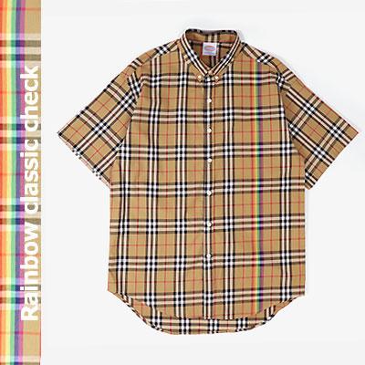 [UNISEX] レインボーチェックショートスリーブシャツ