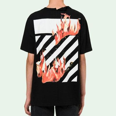 [UNISEX] 炎ハンドポイントショートスリーブtシャツ/半袖(2color)