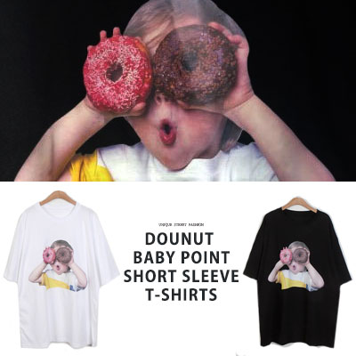 [UNISEX] ドーナツベビーポイントtシャツ/半袖(2color)