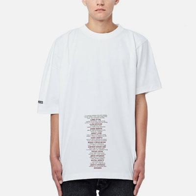 [UNISEX] アンバランススリーブユニークTシャツ/半袖