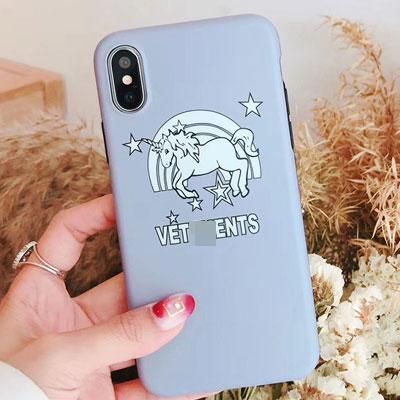 ユニコーンプリント iPhone スマホケース/スマホカバー